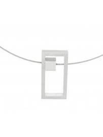 Clic Collier C126 mat zilverkleurig