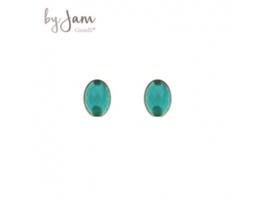 By Jam  ovaal groen jade/goud
