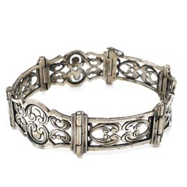 Occasion zilveren armband met krakeling vormen