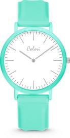 Colori Essentials 5 Horloge - Siliconen Band - Ø 40 mm - Groen