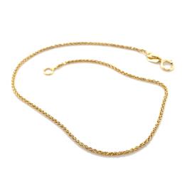 Vossenstaart gouden collier 45cm