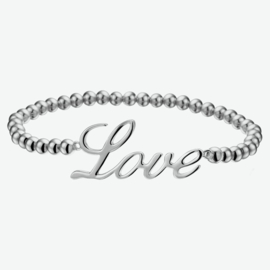 Zilveren armband love 4,0 mm 17,5 cm