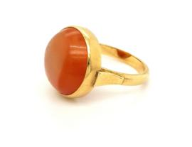 Occasion gouden ring met carneool edelsteen
