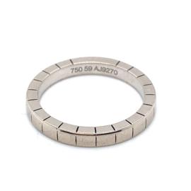 Occasion witgouden Cartier ring met gegraveerde lijnen