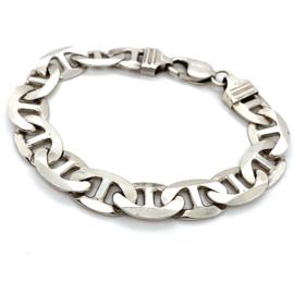 Occasion massieve zilveren grove fantasie armband