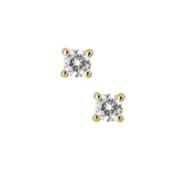 Oorknoppen diamant 0.20 ct.