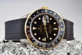 Diamant gezet Rolex GMT-master II ref. 6713 herenhorloge