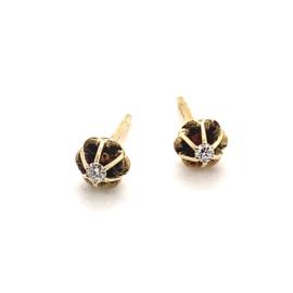 Occasion solitair oorknoppen diamant 0.06ct VSI H
