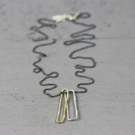 Jeh Jewels 19805 - Collier paperclip zilver, verguld, oxy