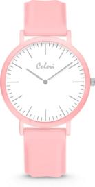 Colori Essentials 5 Horloge - Siliconen Band - Ø 40 mm - Licht Roze