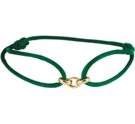 Armband satijn groen