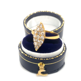 Occasion vintage ring met 15 diamanten 0.45ct