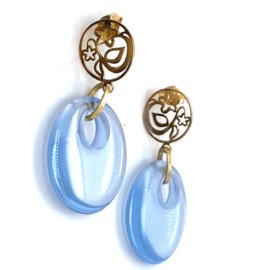 Cataleya Earrings round drop blue