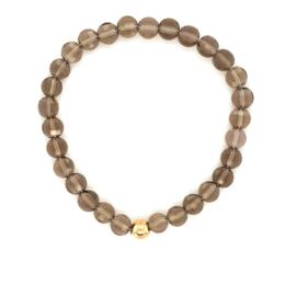 Cataleya armband met rookkwarts en goud