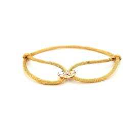 Armband satijn goudgeel 3 rondjes