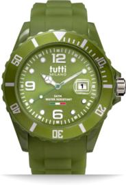 Tutti Milano TM002AG- Horloge - 42.5 mm - Groen - Collectie Pigmento