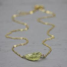 Jeh Jewels 18766 collier verguld lemon kwarts