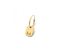 Just Franky Tag Earring Mini Tag Charm
