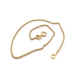 Vossenstaart gouden armband 18cm