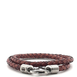 Zero Jewels - Hong Kong - armband - donkerbruin