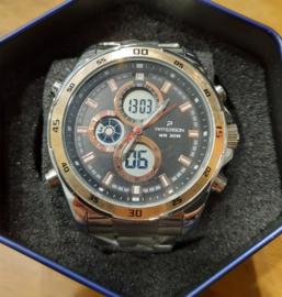 Nieuw Paterson Chronograaf herenpols horloge zwart goud