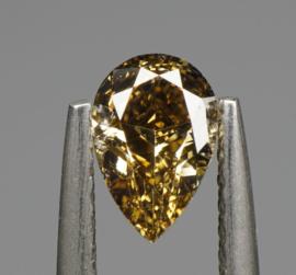 1 pcs Diamant - 0.53 ct - BRILLIANTE PEER - NATURAL FANCY DEEP YELLOWISH BROWN - VS2