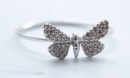 Astley Clarke - 14 karaat Goud - Ring Diamant - vlinder