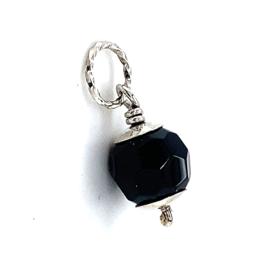 Occasion hanger met zwarte gefacetteerde kraal