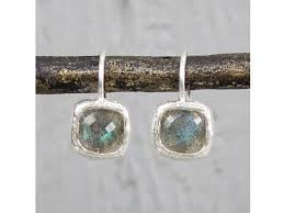 Jeh jewels  Zilveren oorbellen met labradoriet