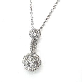 Coronet Diamonds collier 18K bezet met 0,455ct diamant