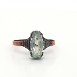 Vintage ring groene steen