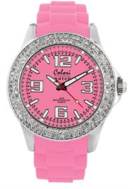 Colori 5-COL116 - Horloge - Roze - Ø 44mm