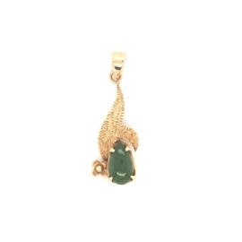 Occasion hanger met een groene jade edelsteen