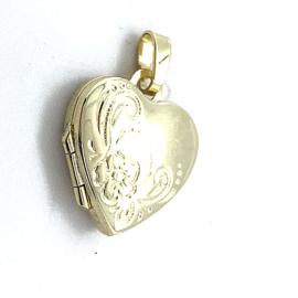 Occasion hartjes medaillon hanger