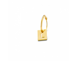 Just Franky Square earring Square charm