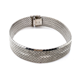 Occasion zilveren armband mat en glans