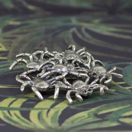 17997 - Wildlife broche Spin zilver groot