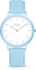 Colori Essentials 5 Horloge - Siliconen Band - Ø 40 mm - Blauw