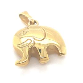 Occasion gouden olifant hanger