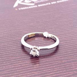 Occasion witgouden solitair ring Recarlo met diamant 0.18ct
