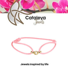 Cataleya Jewels satijn koord armband schakel