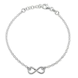 Zilveren armband infinity 2,1 mm 13 + 3 cm