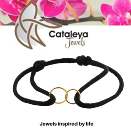 Cataleya jewels Armband satijn rondjes