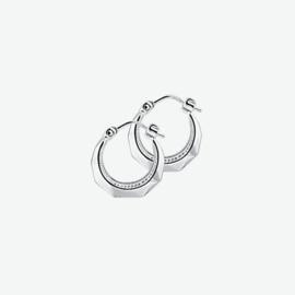 Zilveren oorringen 3,0 mm lapide
