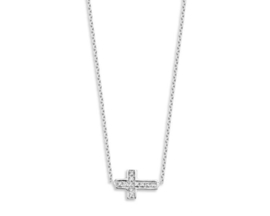 Just Franky Just Diamond Necklace Cross