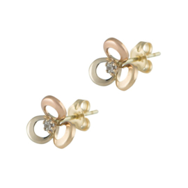 Earrings Flower Tricolor