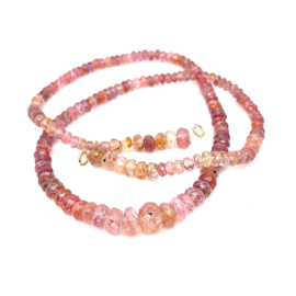 Occasion pink toermalijn collier