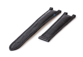 Originele Cartier lederen horloge band zwart 16mm