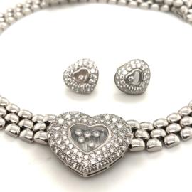 Occasion set Chopard happy diamonds 18k