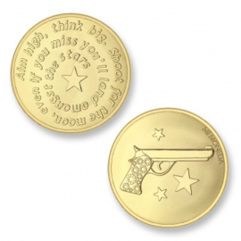 Mi Moneda Aim high & Pistol goud medium